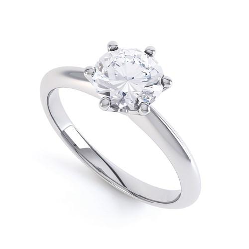 Klasszikus Tiffany szoliter gyűrű