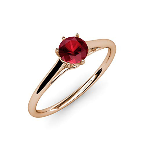 Rubin szoliter eljegyzési gyűrű