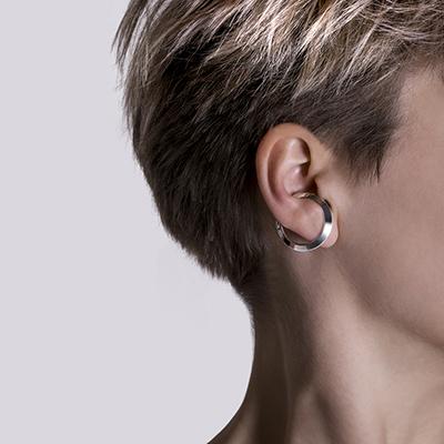 Ezüst karika fülbevaló