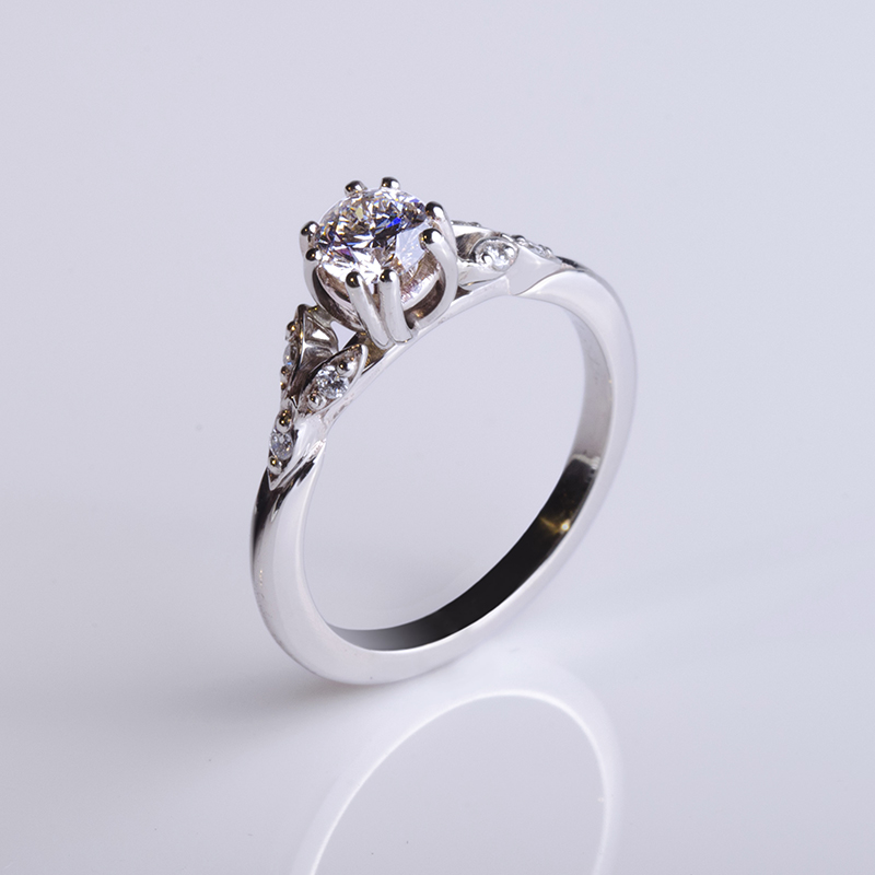 Eljegyzési gyűrű, szoliter, klasszikus gyémánt gyűrű