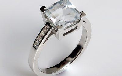Goshenit eljegyzési gyűrű