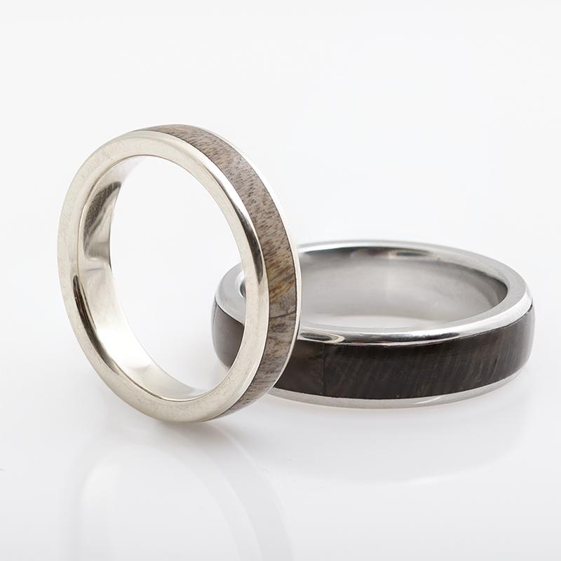 Faopál betétes jegygyűrű pár